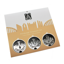 Load image into Gallery viewer, Pittsburgh champions ornament gift set by Audra Azoury