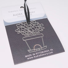 Load image into Gallery viewer, Jade Plant ornament in stainless steel by Audra Azoury