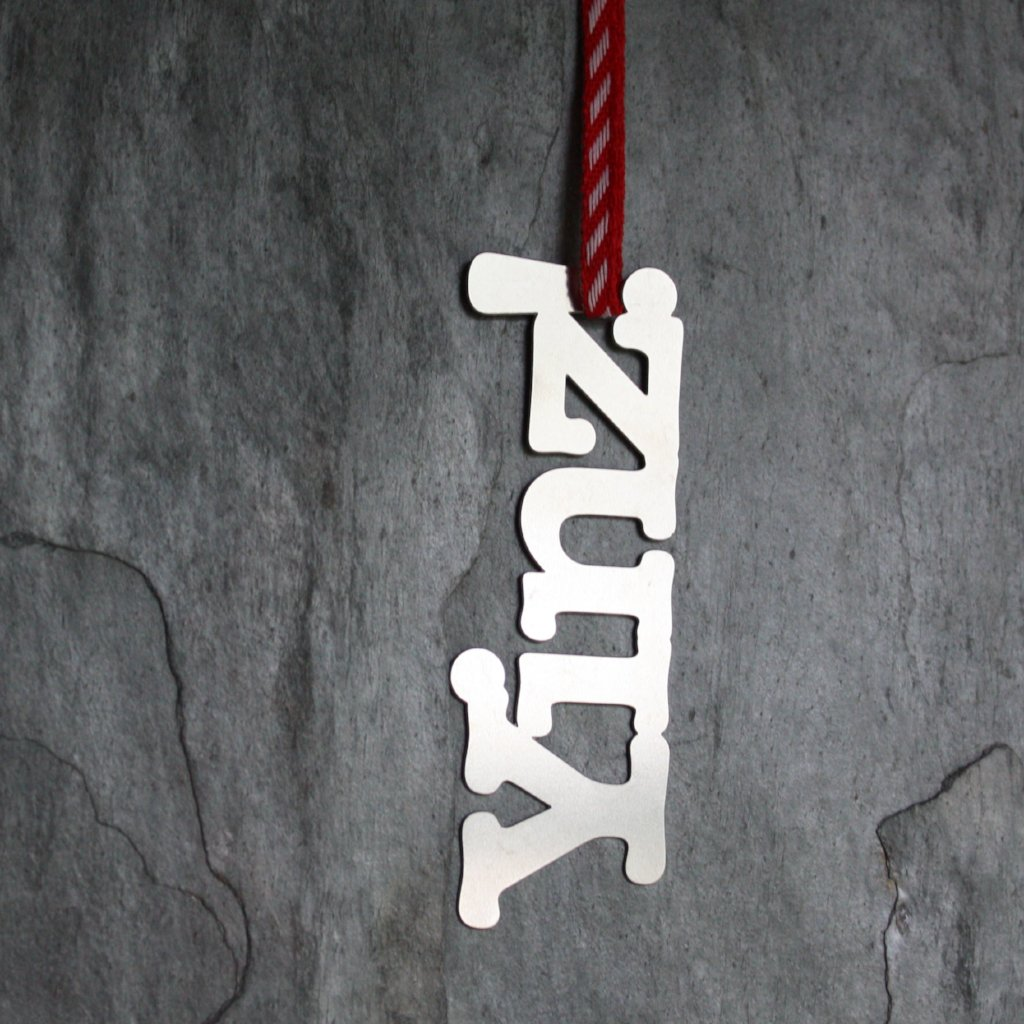 Stainless steel YINZ ornament by Audra Azoury