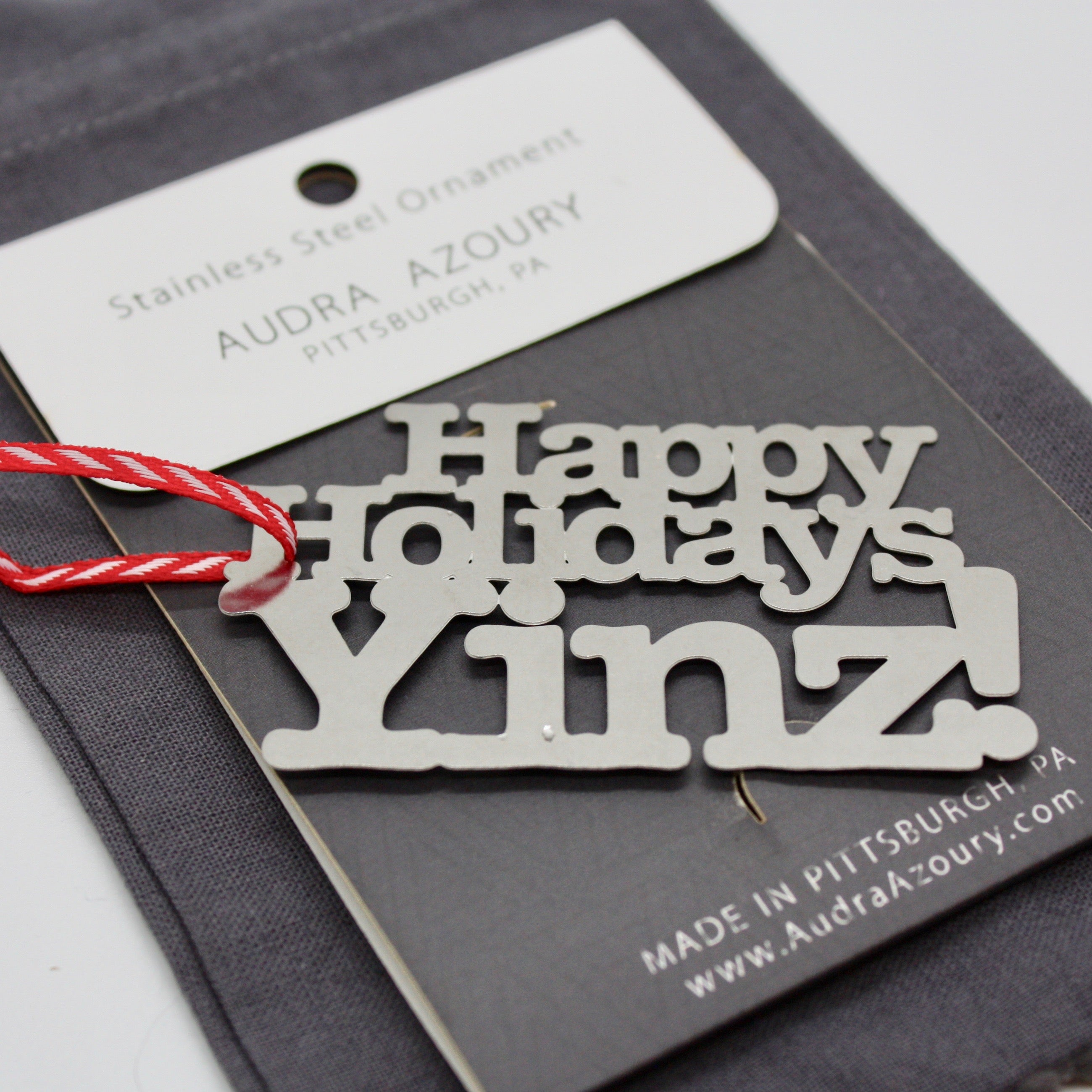Happy Holidays YINZ ornament by Audra Azoury