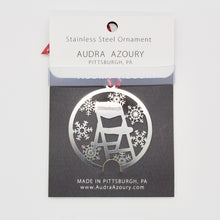 Load image into Gallery viewer, Pittsburgh Parking Chair ornament designed by Audra Azoury