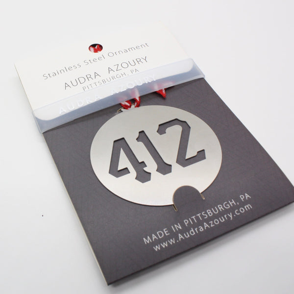 Pittsburgh Ornament | 412 Area Code