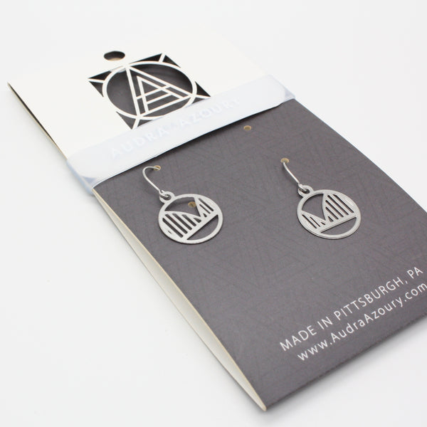 Pittsburgh Earrings | Mini-Arched Bridge