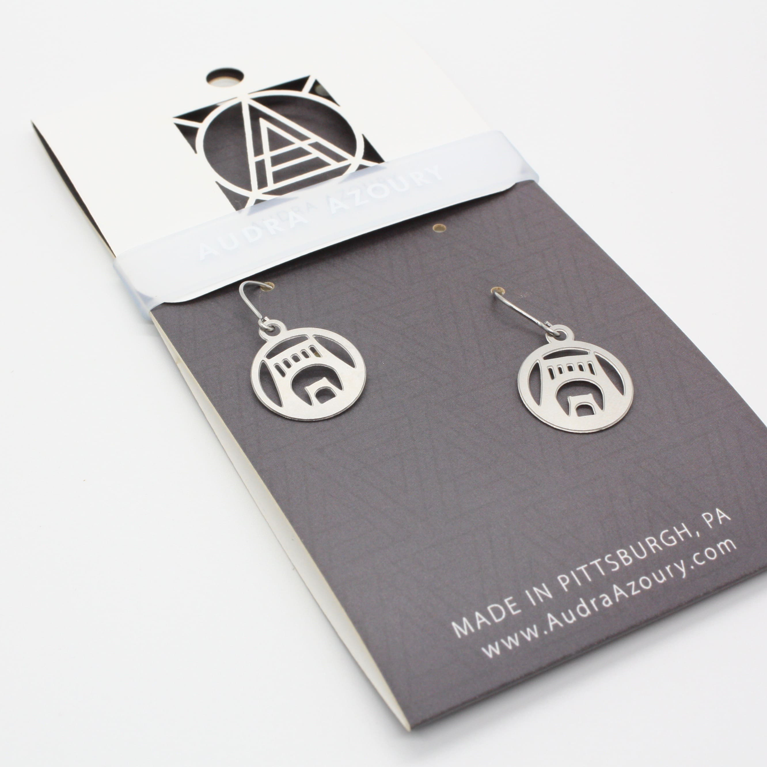 Pittsburgh Earrings | Mini-Warhol Bridge