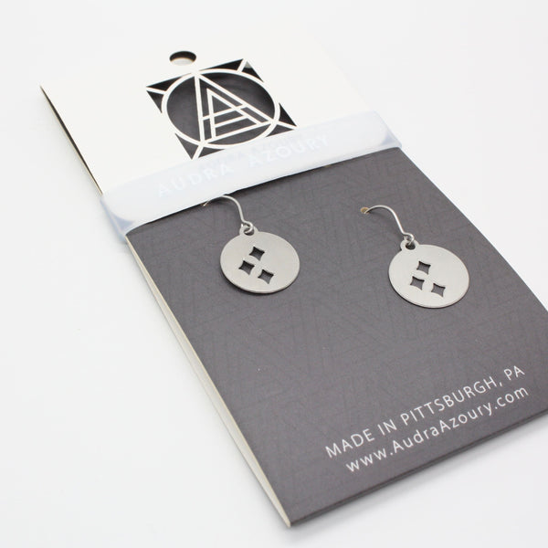 Pittsburgh Earrings | Mini-Steel Stars
