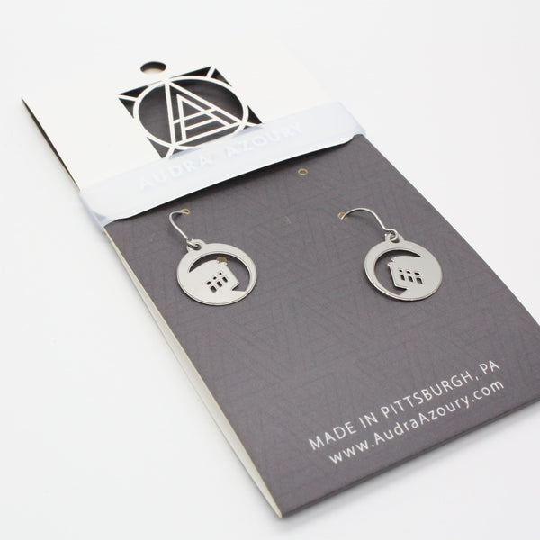 Pittsburgh Earrings | Mini-Incline