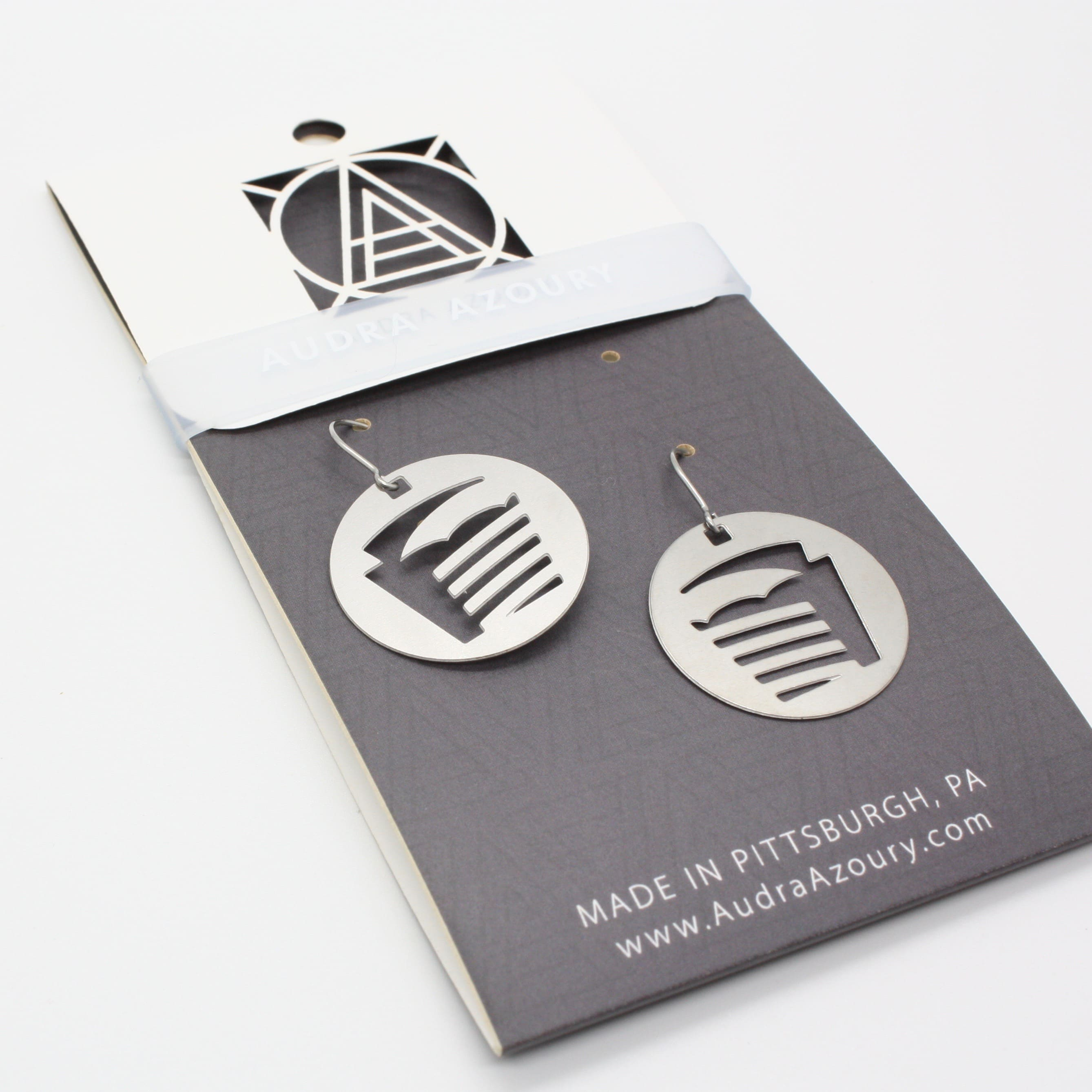 Pittsburgh Earrings | Football Field
