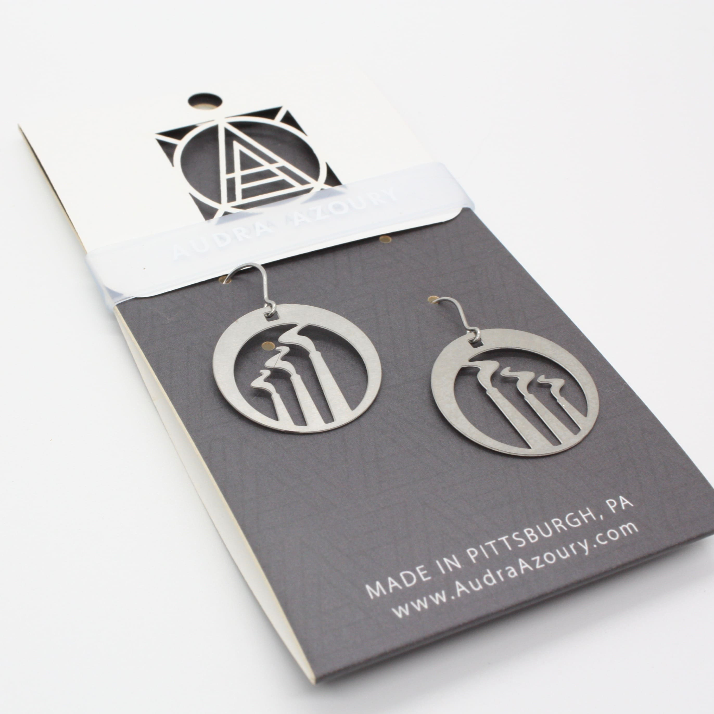 Pittsburgh Earrings | Smoke Stacks
