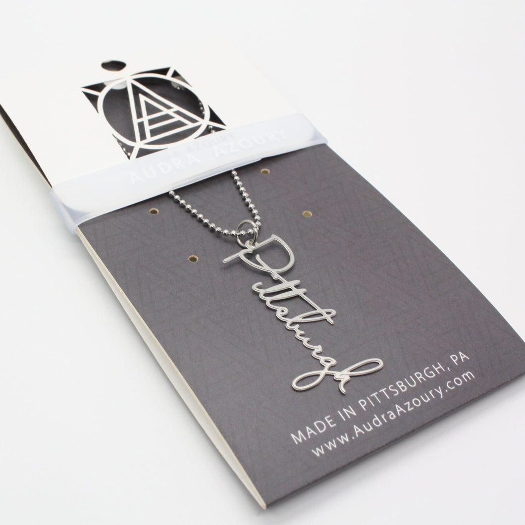 Pittsburgh | Script Necklace