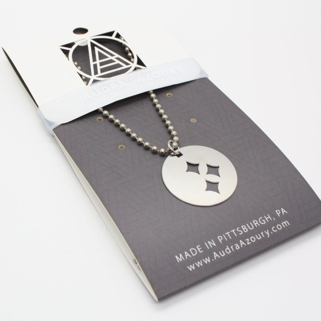 Pittsburgh Necklace | Steel Stars