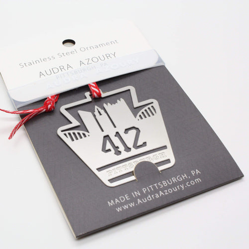 412 area code ornament by audra azoury