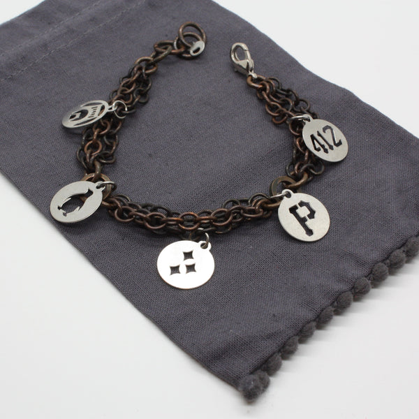 Pittsburgh Charm Bracelet | 5 Mini Charms
