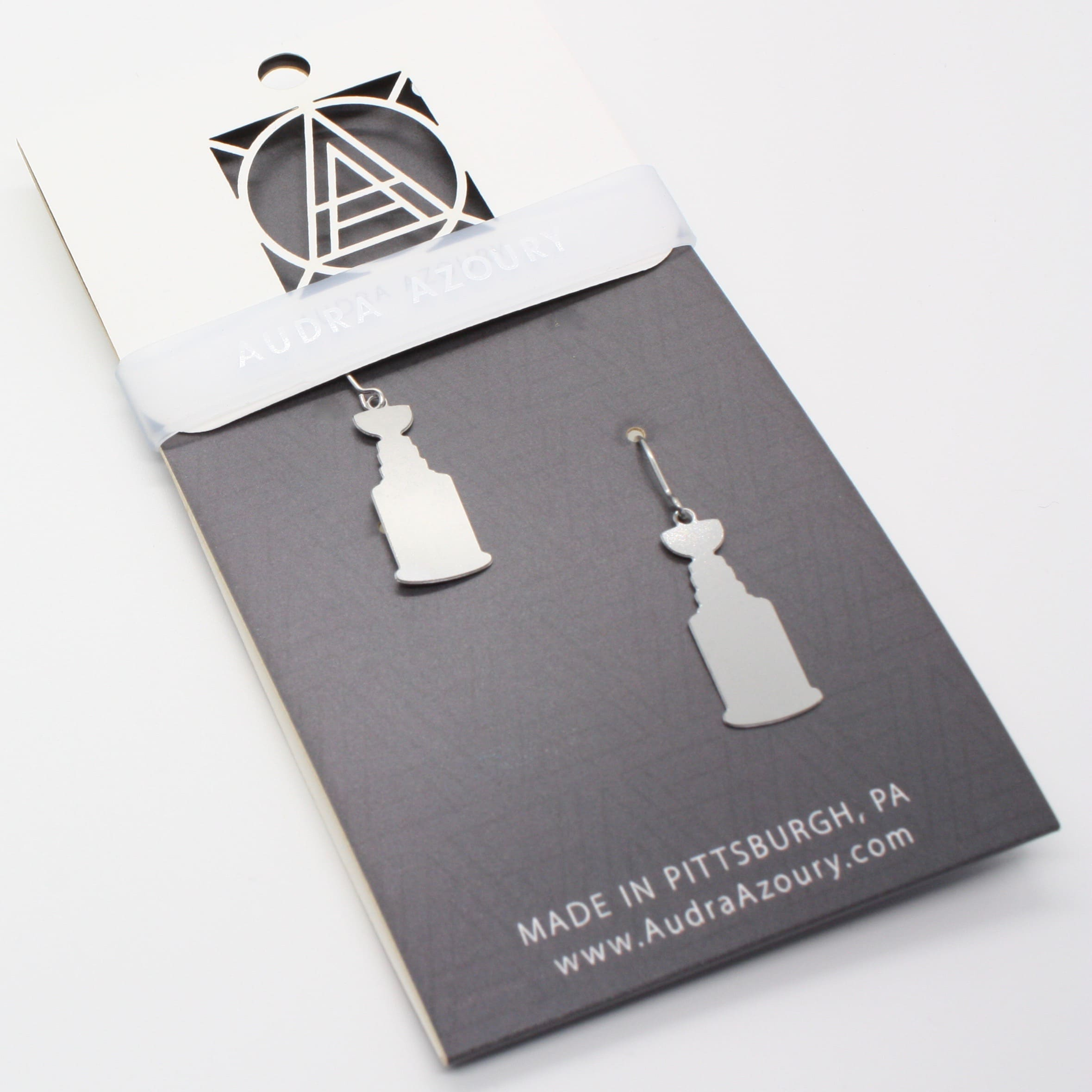 Pittsburgh Earrings | Stanley Cup Silhouette