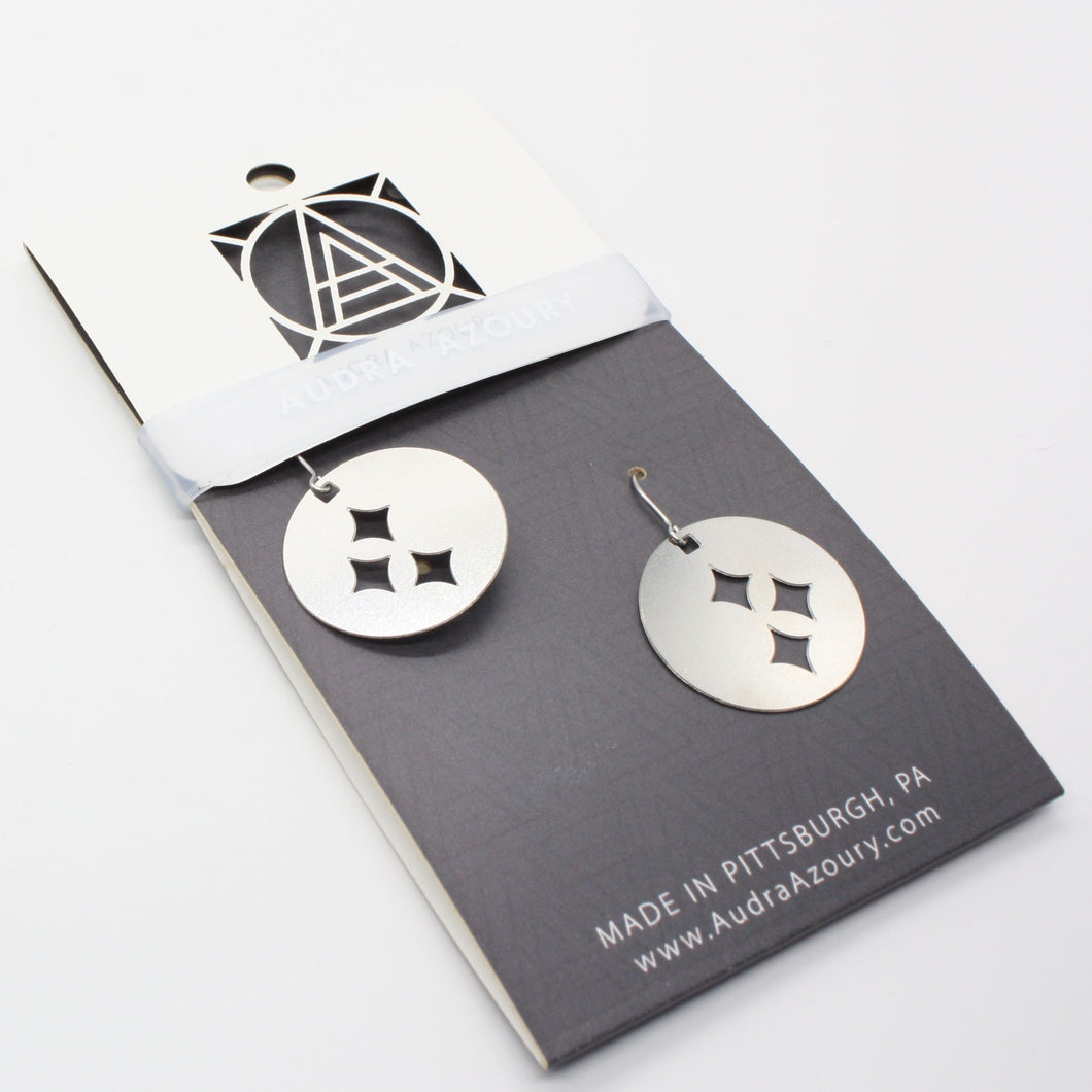 Pittsburgh Earrings | Steel Stars