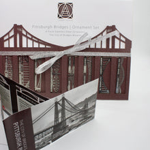 Load image into Gallery viewer, Pittsburgh Bridge Ornaments | 8 Piece Set & Booklet