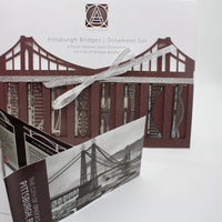 Pittsburgh Bridge Ornaments | 8 Piece Set & Booklet