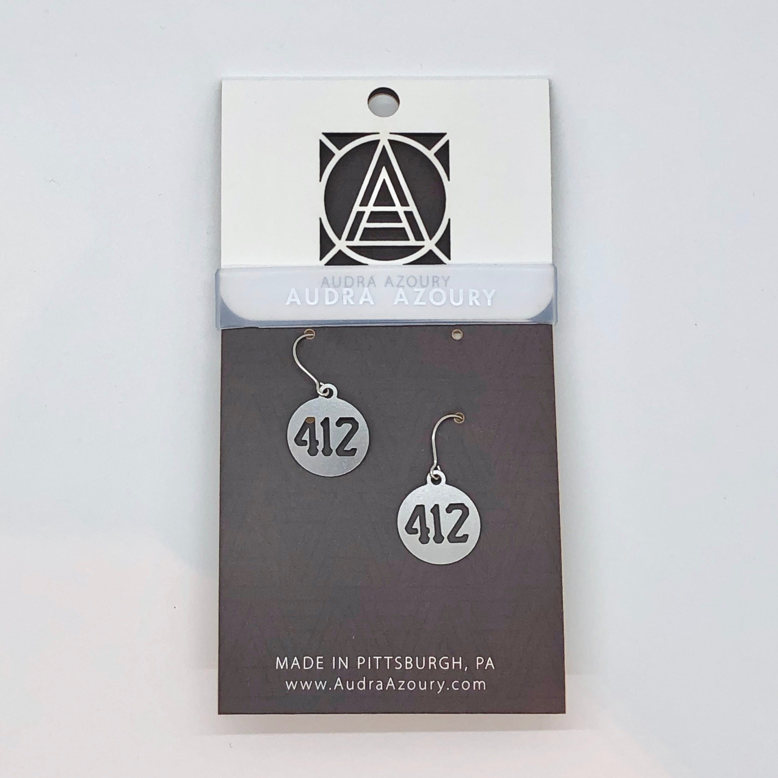 Pittsburgh Earrings | Mini 412 Area Code