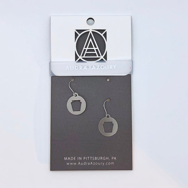 Pittsburgh Earrings | Mini-Keystone