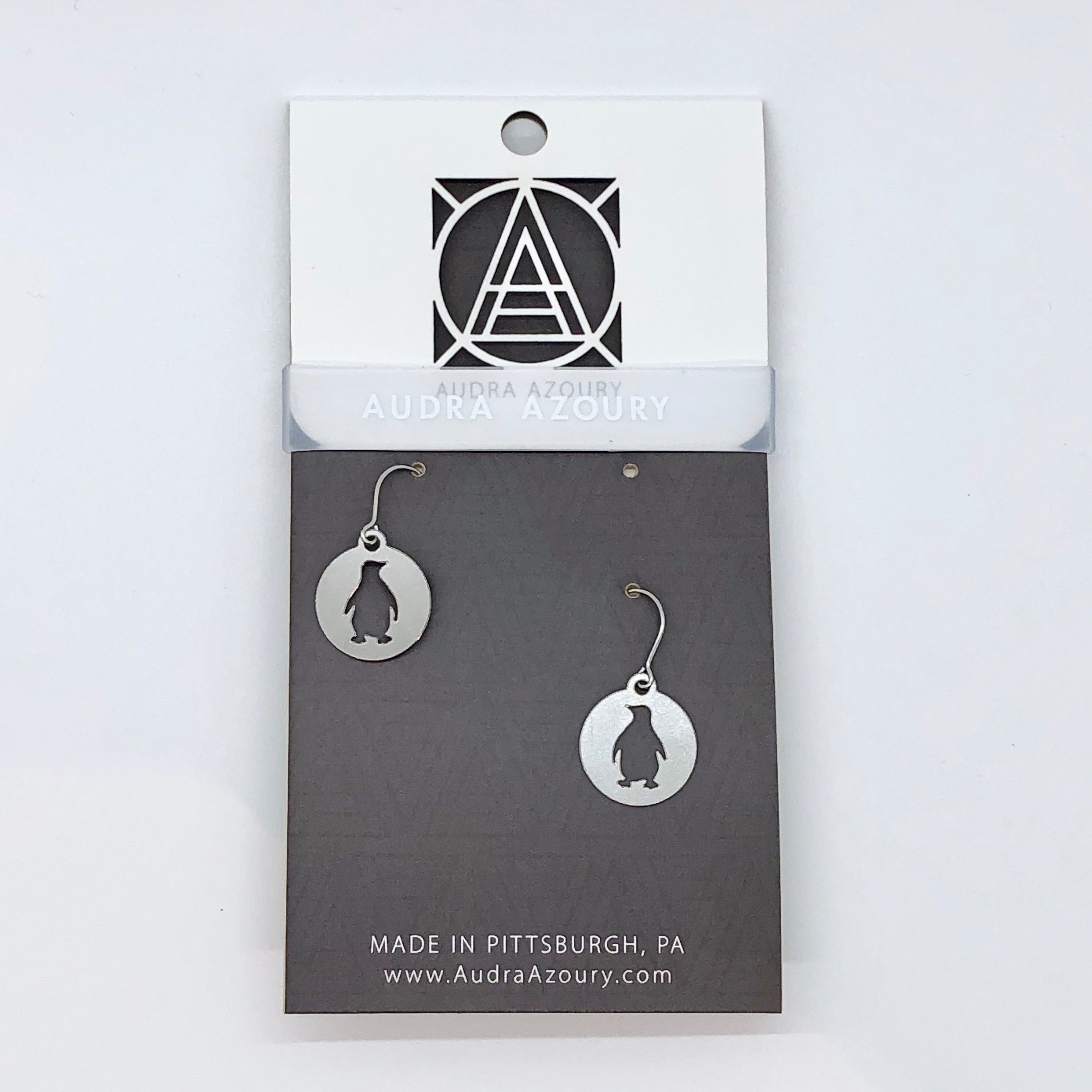 Pittsburgh Earrings | Mini-Penguin