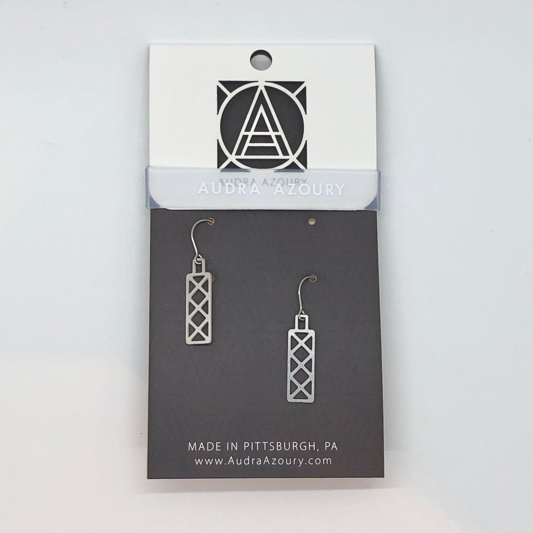Bridge Earrings | Mini-X Truss