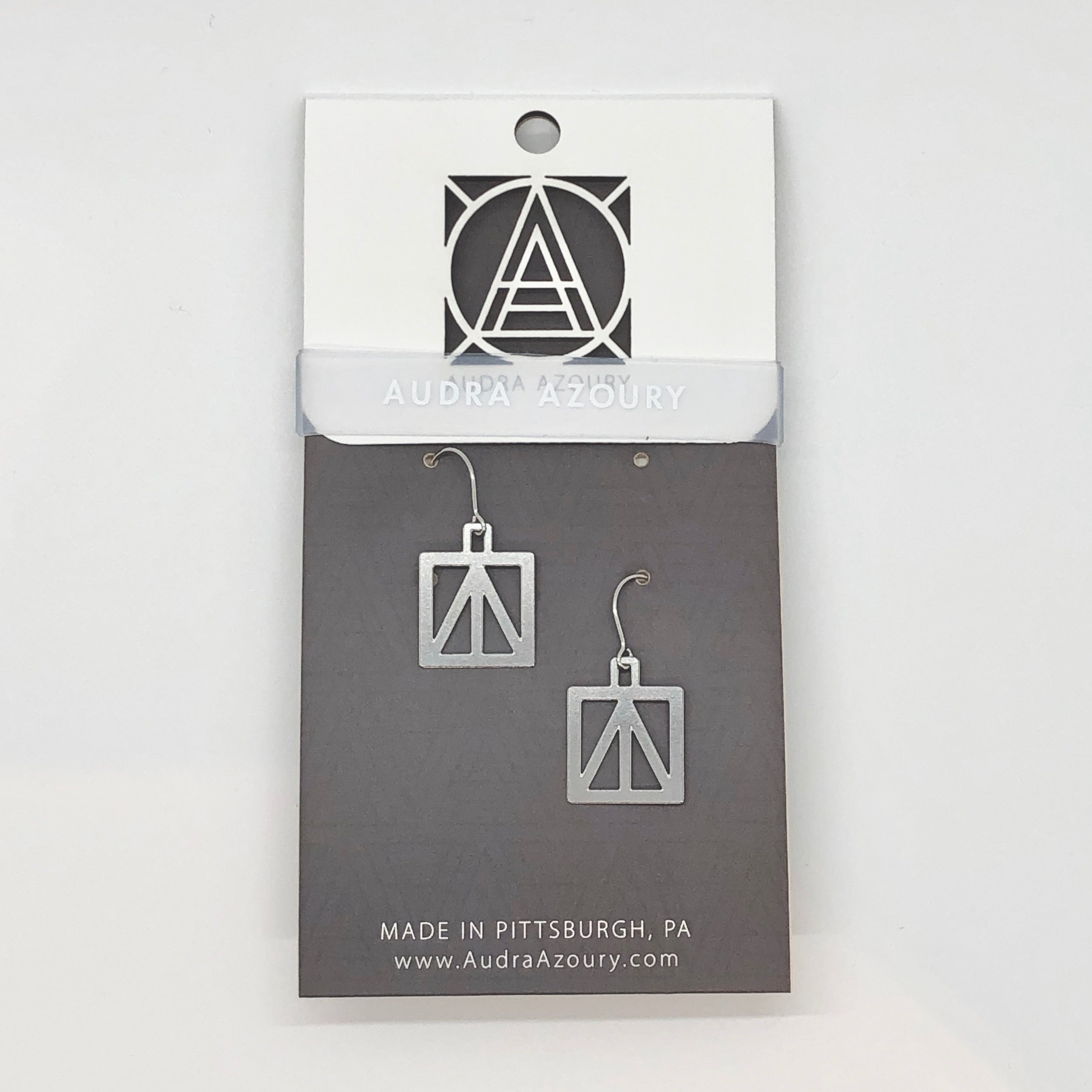 Bridge Earrings | Square Peace Truss