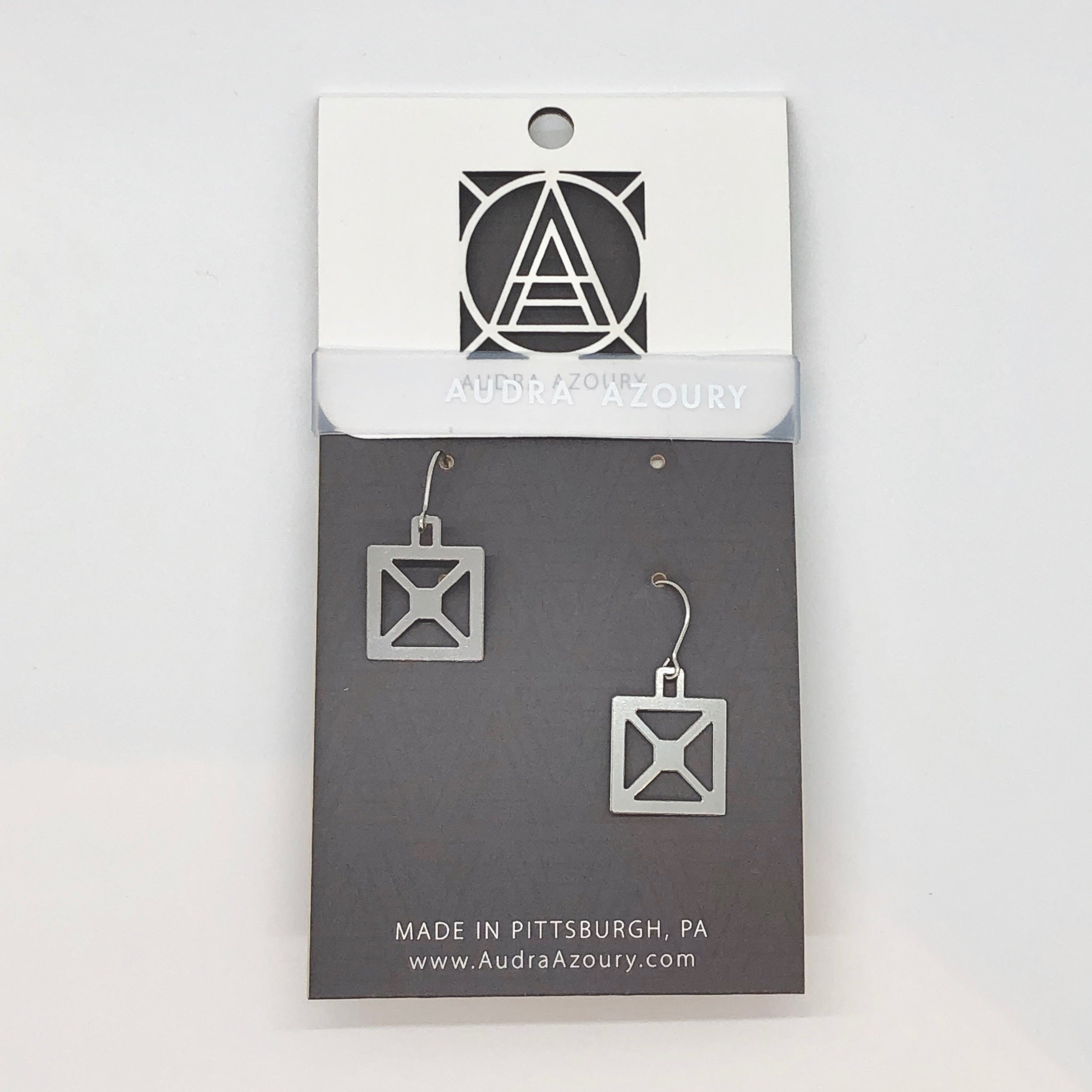 Bridge Earrings | Square X Truss