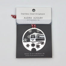 Load image into Gallery viewer, Pittsburgh Ornament | Trolley with Snowflakes