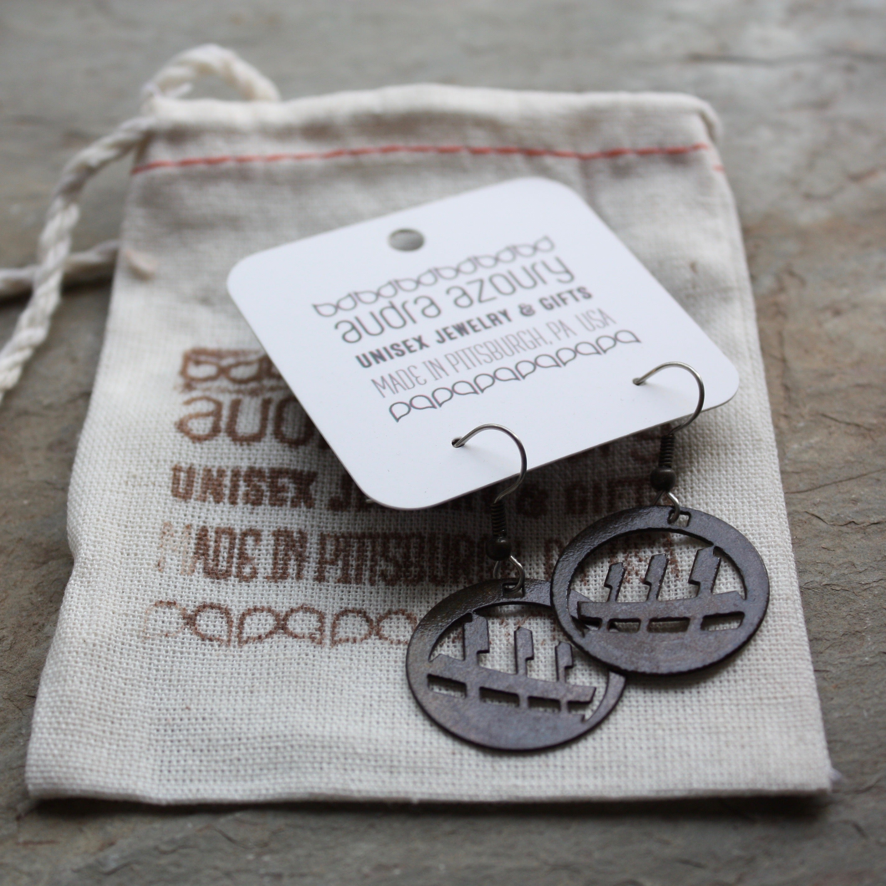 Pittsburgh Earrings | Baseball Park by Audra Azoury
