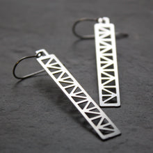 Load image into Gallery viewer, Peace Truss Earring design by Audra Azoury