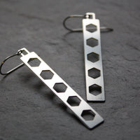 Bridge Earrings | Hex Dangle by Audra Azoury