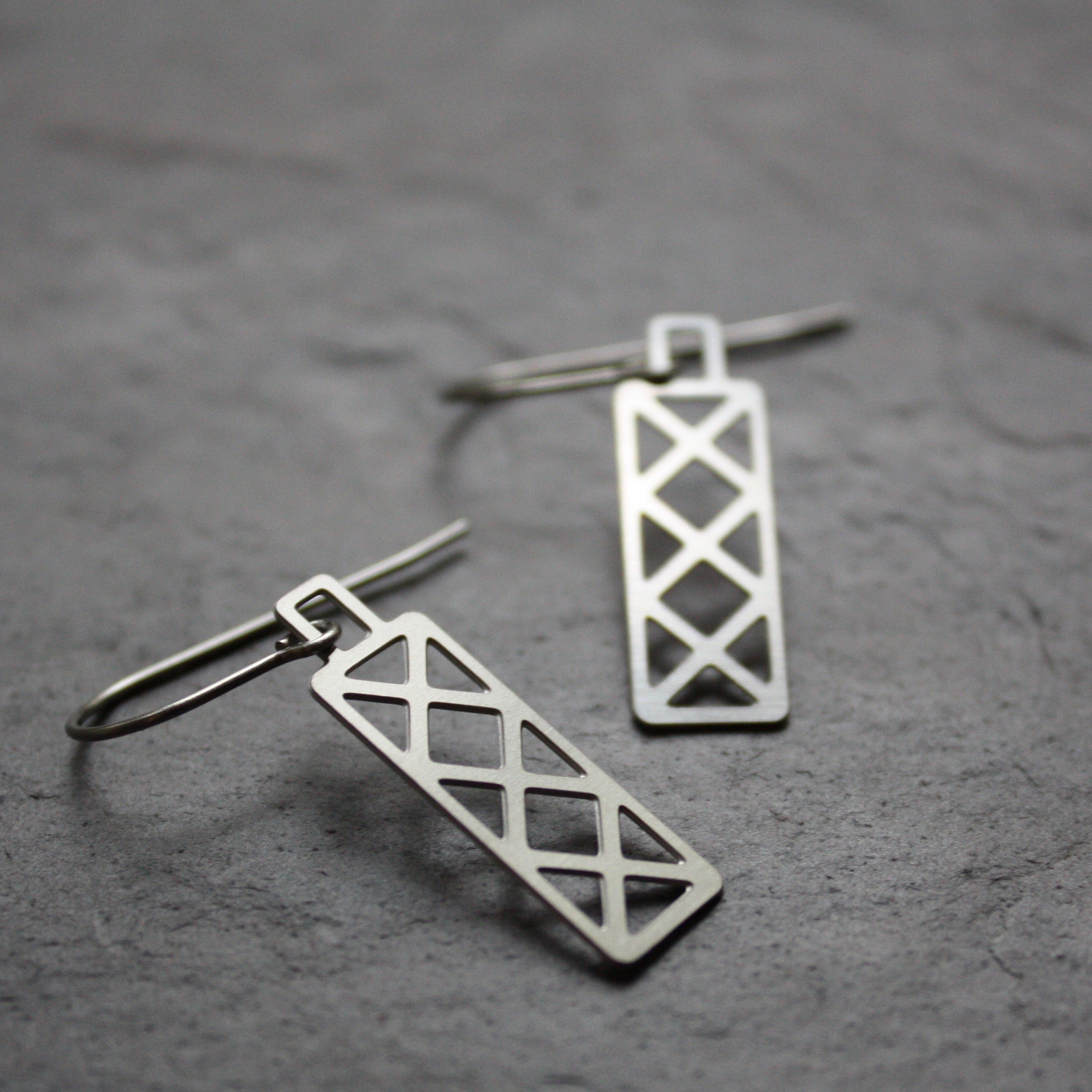 Bridge Truss Earrings | Hex Dangle by Audra Azoury