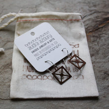 Load image into Gallery viewer, Square X Bridge Truss earrings by Audra Azoury