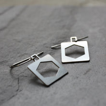 Load image into Gallery viewer, Square Hex Bridge Truss Earrings by Audra Azoury