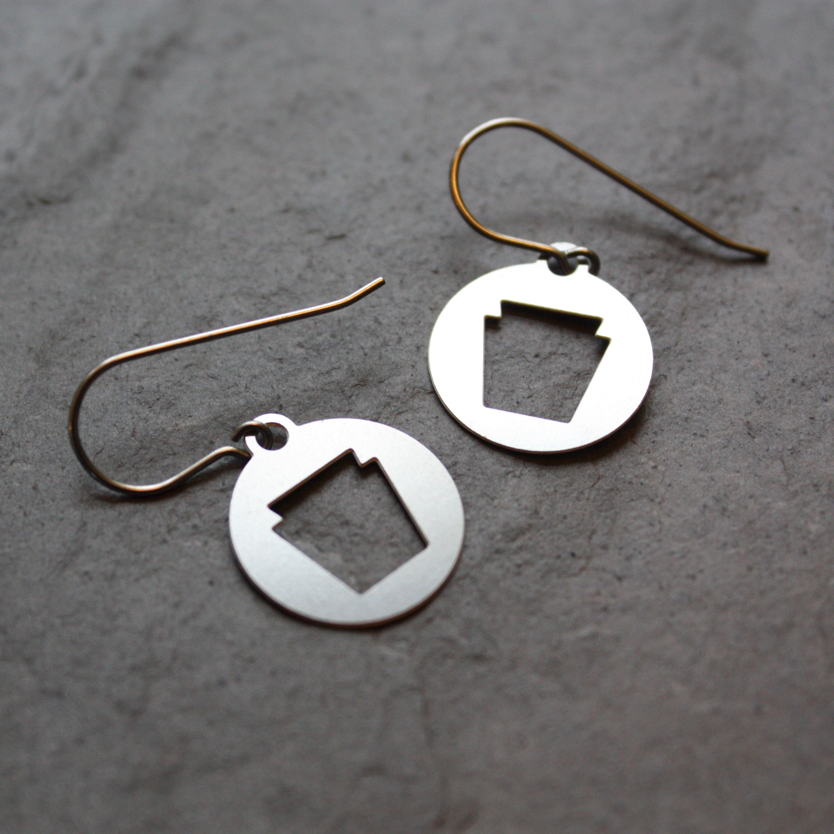 Pennsylvania Keystone Earrings by Audra Azoury