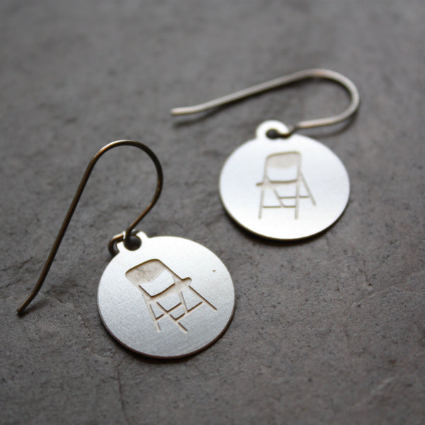 Pittsburgh Parking Chair earrings by Audra Azoury