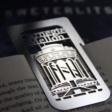 Load image into Gallery viewer,  CMU Hammerschlag Hall Bookmark by Pittsburgh artist Audra Azoury