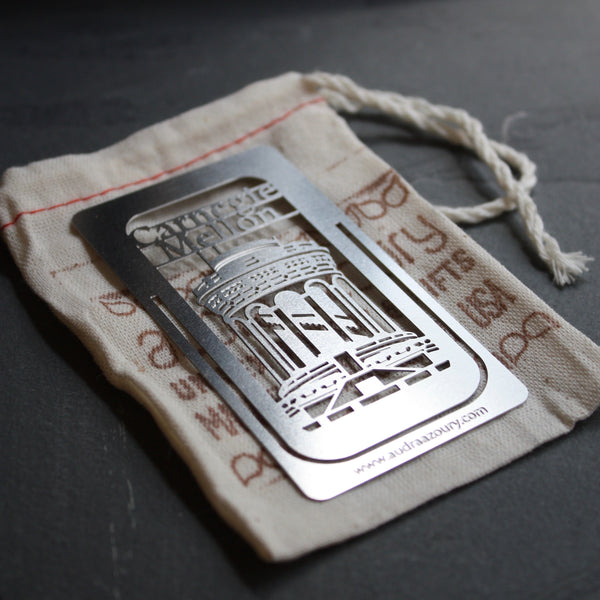 Carnegie Mellon University Bookmark by Pittsburgh artist Audra Azoury