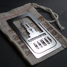 Load image into Gallery viewer, Penn State PA clip-on bookmark by Pittsburgh artist Audra Azoury
