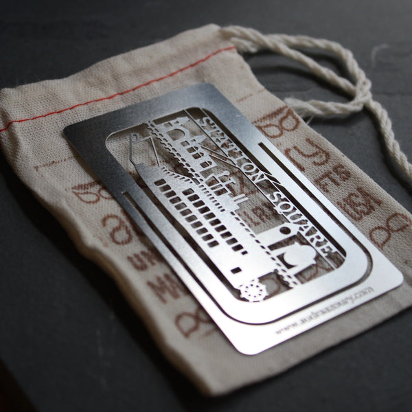 Station Square bookmark by Pittsburgh artist Audra Azoury