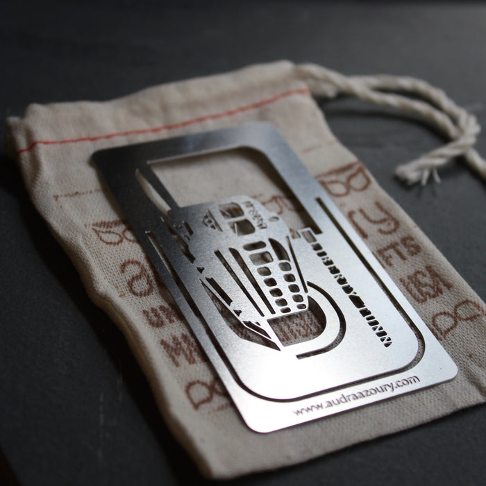 Trolley bookmark by Pittsburgh artist Audra Azoury