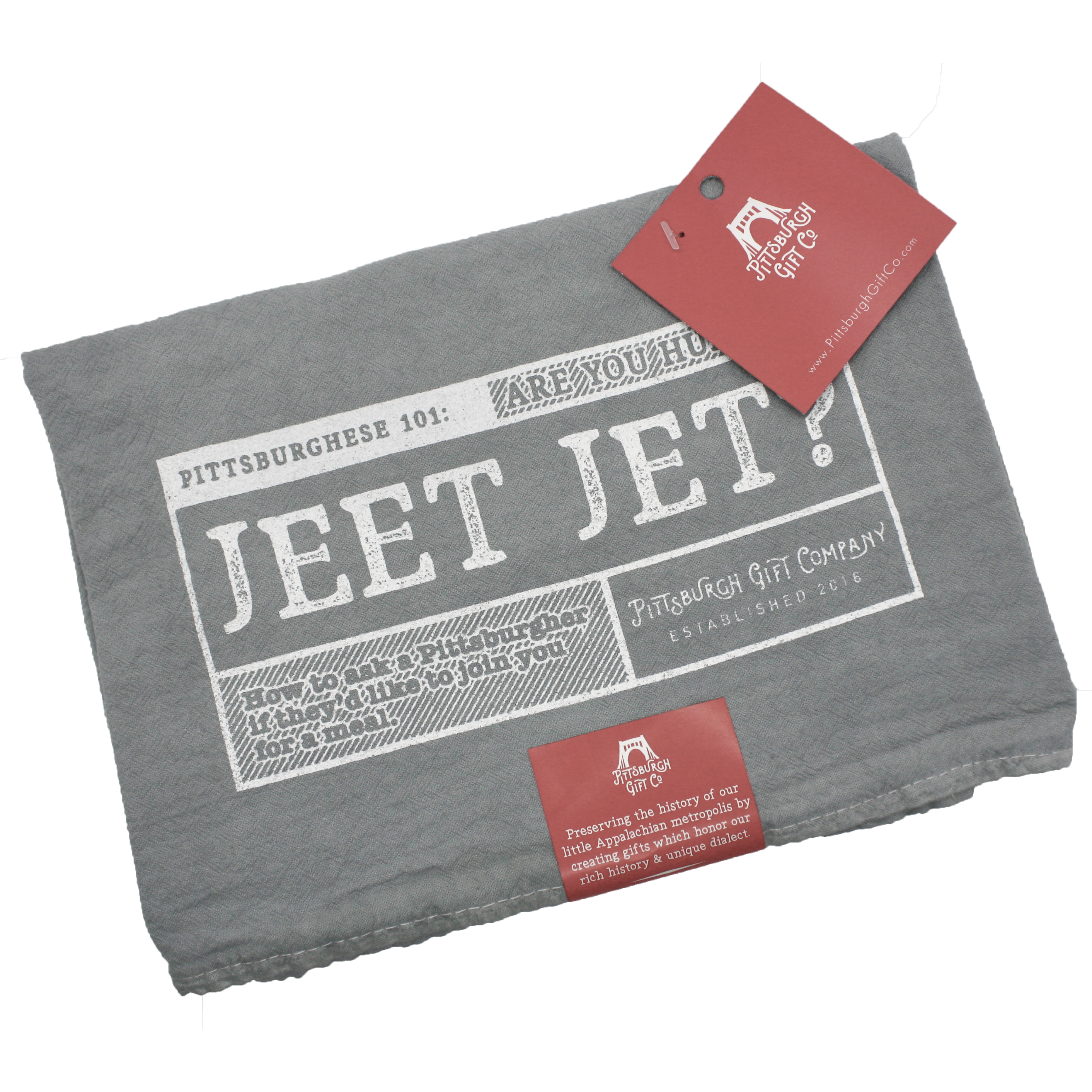 Jeet Jet? Tea Towel by Pittsburgh Gift Company