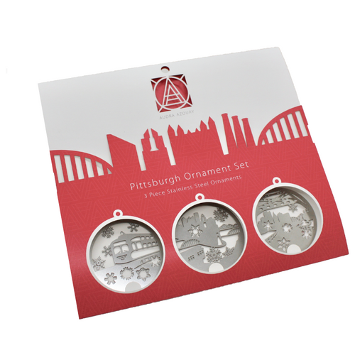 PITTSBURGH SNOWFLAKES ORNAMENT GIFT SET BY AUDRA AZOURY