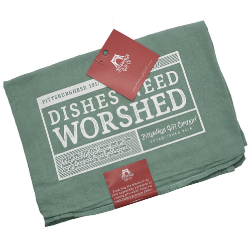 Dished Need Worshed Tea Towel by Pittsburgh Gift Company