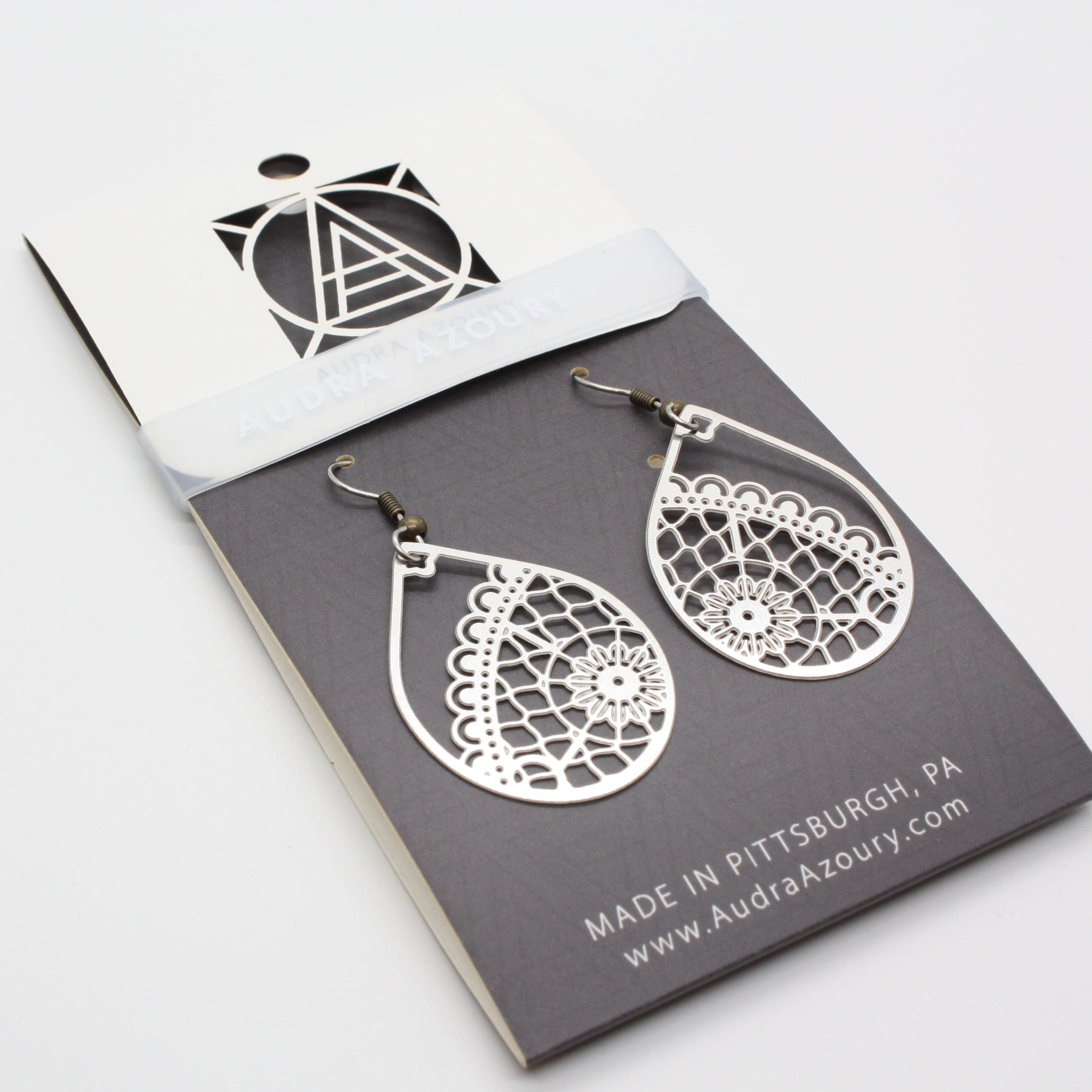 Lace Earrings | Boho Teardrop