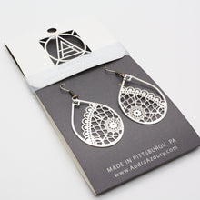 Load image into Gallery viewer, Lace Earrings | Boho Teardrop