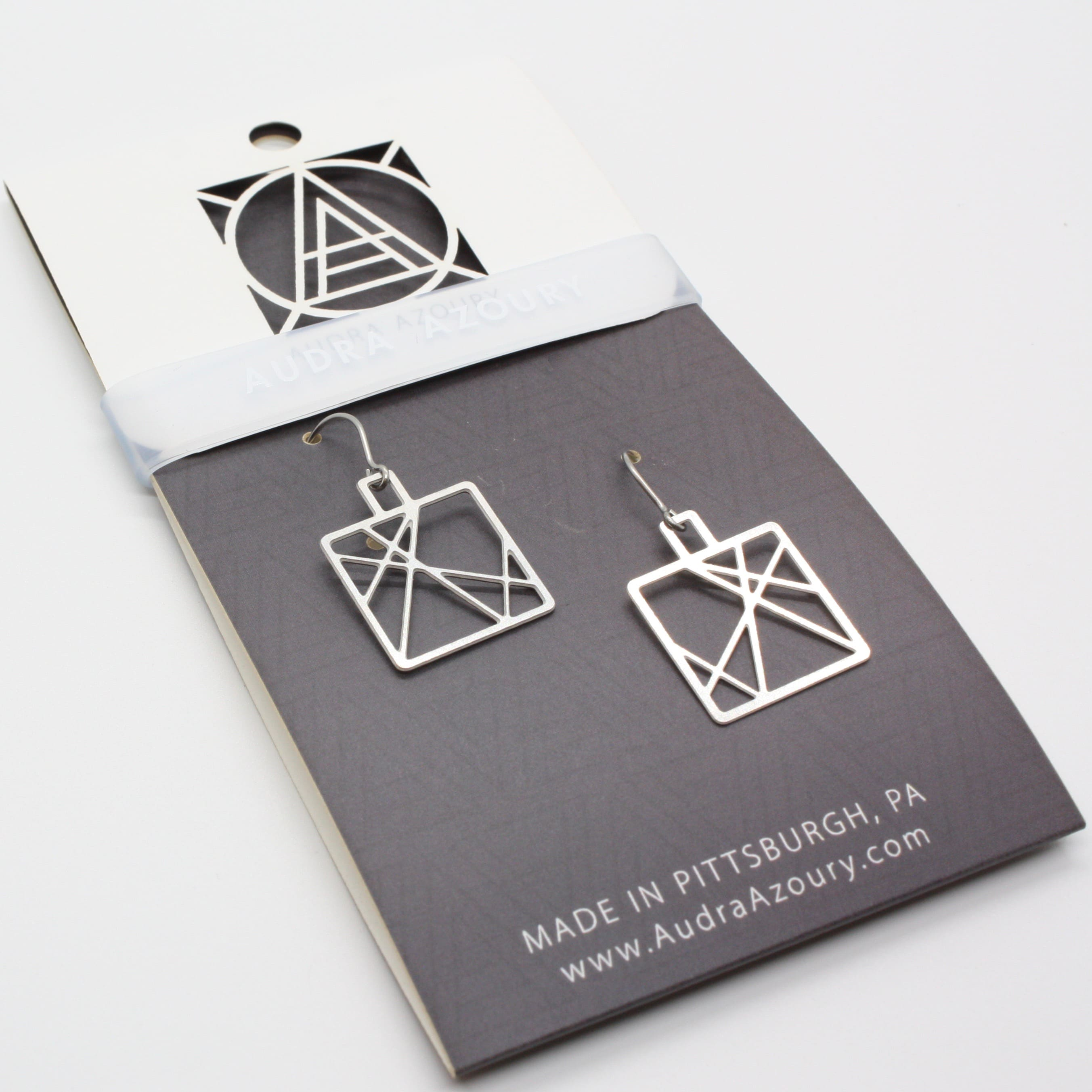 Square Criss-Cross Earrings