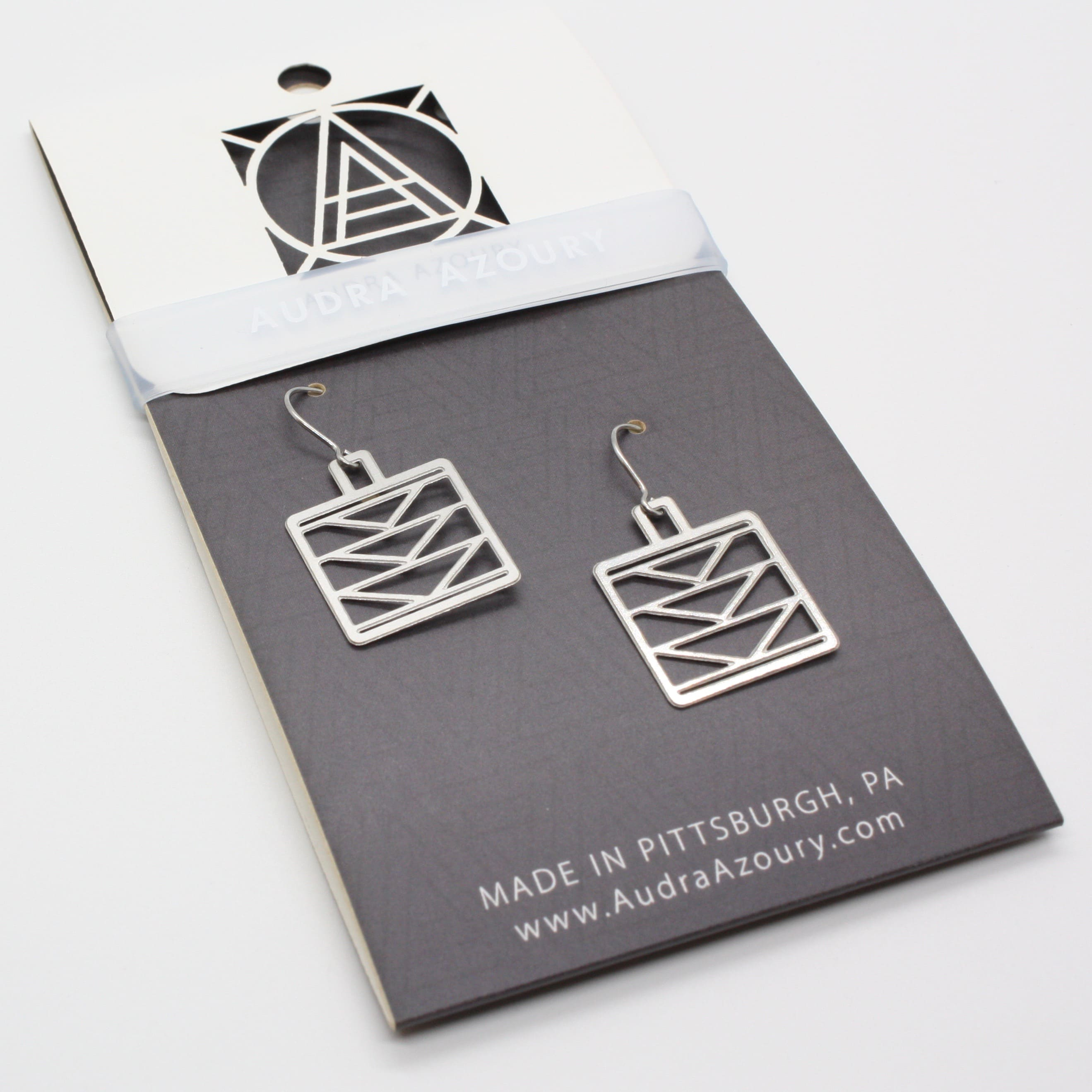Square Tri-Tower Earrings