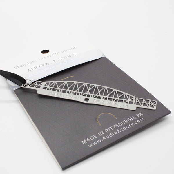 Pittsburgh Bridge Ornament | Fort Wayne Railroad