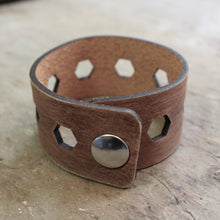 Load image into Gallery viewer, Leather Bracelet | FAT Hex