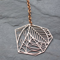 copper leaf sun catcher by audra azoury